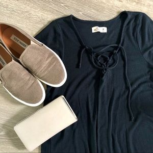 Hollister lace up top